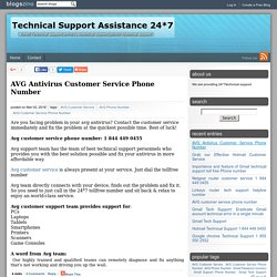 AVG Antivirus Customer Service Phone Number