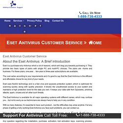 Eset antivirus Technical Support