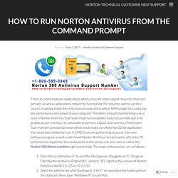 How to Run Norton AntiVirus from the Command Prompt