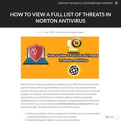 How to View a Full List of Threats in Norton AntiVirus