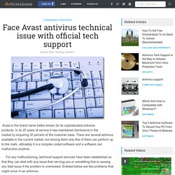 Face Avast antivirus technical issue with official tech support