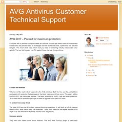 AVG Antivirus Customer Technical Support: AVG 2017 – Packed for maximum protection