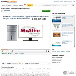 Mcafee Antivirus Technical Support Phone Number
