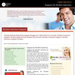 McAfee Antivirus Support- 800-760-5113