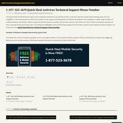 1–877–523–3678 Quick Heal Antivirus Technical Support Phone Number