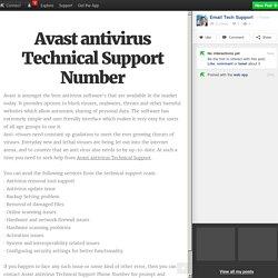 Avast antivirus Technical Support Number