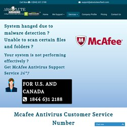 Mcafee Antivirus Technical Support Number {1844-631-2188} McAfee Help