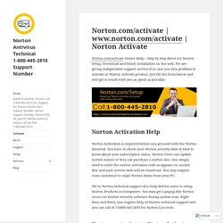 Norton.com/activate 1-800-445-2810
