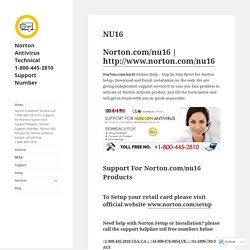 Norton NU16 - Norton Anti-Virus