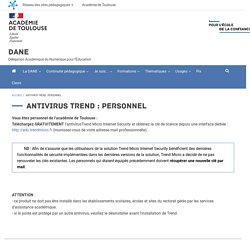 Le site de la DANE : antivirus académique