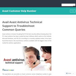 Avail Avast Antivirus Technical Support to Troubleshoot Common Queries – Avast Customer Help Number