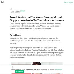 Avast Antivirus Review — Contact Avast Support Australia To Troubleshoot Issues