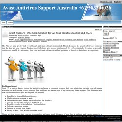 Avast Antivirus Support Australia +61-283206026 - Avast Support One Stop Solution for All Your Troubleshooting and FAQs