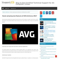 Seven amazing new features of AVG Antivirus 2017 – VSupport24 – Advance Solution for All Computer Technical Issues