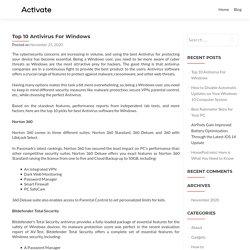 Top 10 Antivirus For Windows - McAfee.com/activate