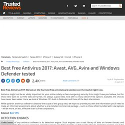 Best Free Antivirus 2017: Avast, AVG, Avira and Windows Defender tested