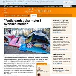 """""""Antiziganistiska myter i svenska medier"""" - Opinion"""