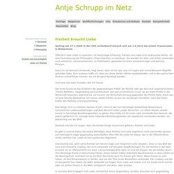 Antje Schrupp im Netz : Freiheit baucht Liebe