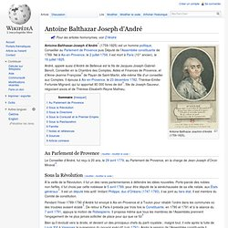 Antoine Balthazar Joachim d'André