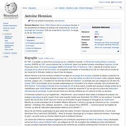 Antoine Hennion