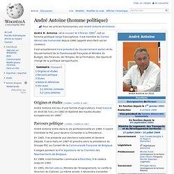 André Antoine (homme politique)