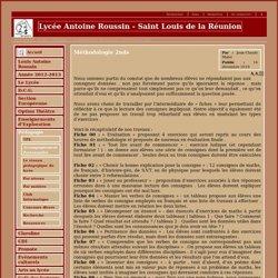 Lycée Antoine Roussin - Saint Louis de la Réunion - Méthodologie 2nde