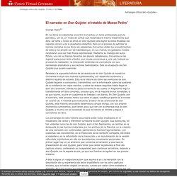 Antología de la crítica sobre el «Quijote» en el siglo XX. George Haley. El narrador en «Don Quijote»: el retablo de Maese Pedro.