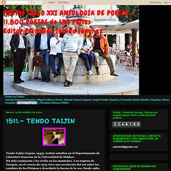 POETAS SIGLO XXI ANTOLOGÍA DE POESÍA + 11.800 POETAS de 185 Países Editor:Fernando Sabido Sánchez: 1511.- TENDO TAIJIN