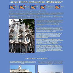 Antoni Gaudi, architecte de Barcelone