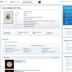 Antonín Dvořák (1841-1904) - data.bnf.fr