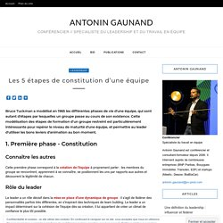 Antonin GAUNAND » Les 5 étapes de constitution d'une équipe