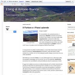 Il blog di Antonio Bianco: Il Fortore e i Paesi aziende