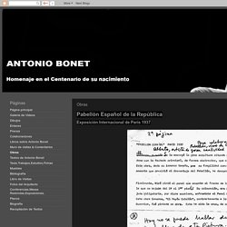 Antonio Bonet Castellana: Obras