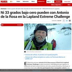 Ni 33 grados bajo cero pueden con Antonio de la Rosa en la Lapland Extreme Challenge