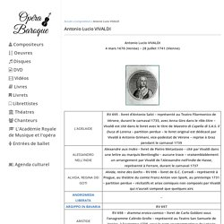 Antonio Lucio Vivaldi - operabaroque.fr