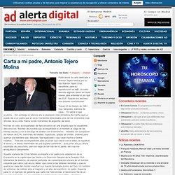 Carta dedicada a Antonio Tejero Molina por su hijo Ramón Tejero Díez