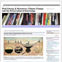 Antonio Turiel: Explaining Peak Oil the Easy Way