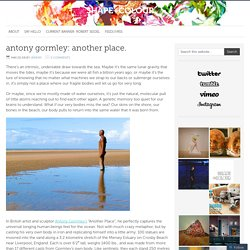 antony gormley: another place. – shape+colour