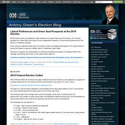 Antony Green's Election Blog : abc.net.au