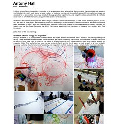 Antony Hall: Arts Workshops