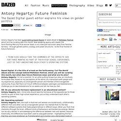 Antony Hegarty: Future Feminism