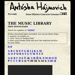 Antosha Haimovich - MUSIC LIBRARY