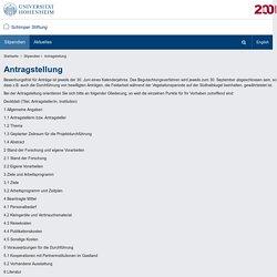 Antragstellung: Schimper Stiftung