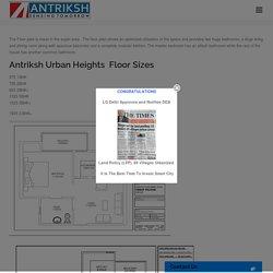 Antriksh Urban Heights Floor Plan @LZone Dwarka