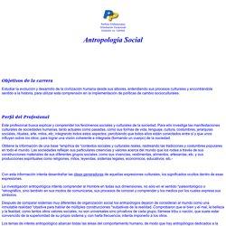 ANTROPOLOGÍA SOCIAL Y CULTURAL, TODO SOBRE la carrera de ANTROPOLOGÍA SOCIAL Y CULTURAL