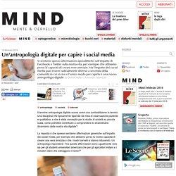 Un'antropologia digitale per capire i social media