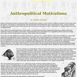 Wyszukana antropologia polityczna