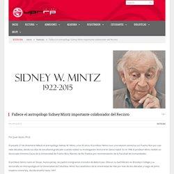 Fallece el antropólogo Sidney Mintz importante colaborador del Recinto