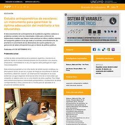 Políticas Públicas : Estudio antropométrico de escolares: un instrumento para garantizar la óptima adecuación del mobiliario a los educandos.