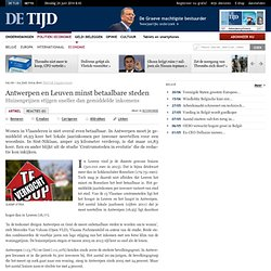Antwerpen en Leuven minst betaalbare steden: De Tijd